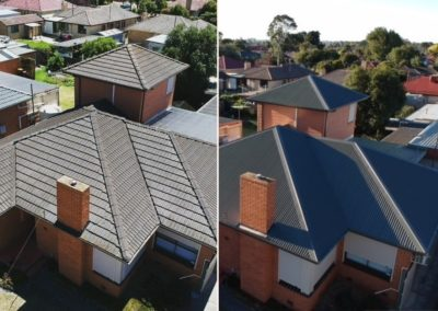 Roof replacement Before and After3