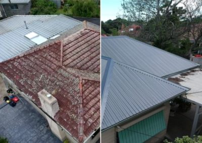 roof replacement Before and After1