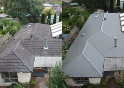 roof replacment Before and After2
