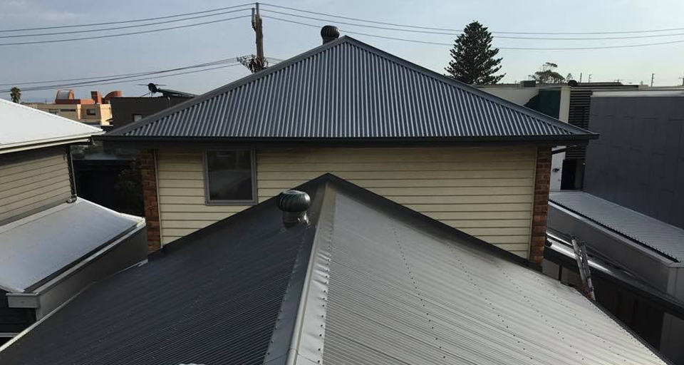 dark colorbond house roof