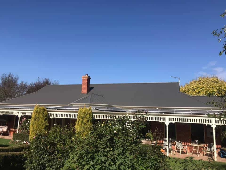 full restoration of tin roof after